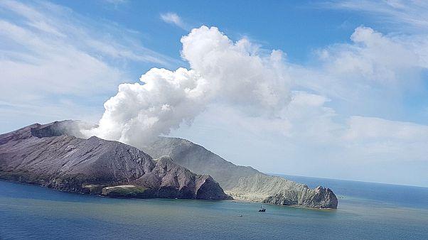 Image: White Volcano eruption
