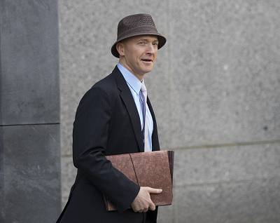 Carter Page arrives at the courthouse on the same day as a hearing regarding Michael Cohen at the United States District Court Southern District of New York, April 16, 2018 in New York City.
