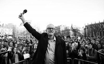 Labour\'s Jeremy Corbyn during a rally in Bristol on Monday
