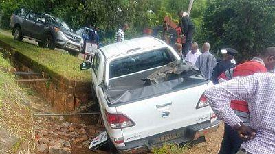 Driver killed as Kabila's convoy crashes in Zambia