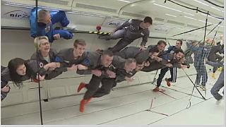 "French astronaut, Thomas Pesquet preparing for ""zero gravity"" flight"