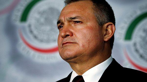 Image: Mexico's Public Security Minister Genaro Garcia Luna attends a meeti