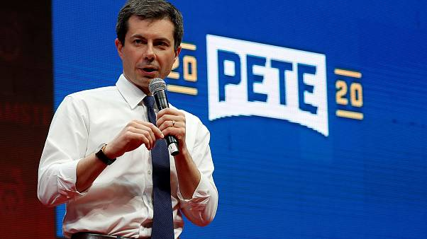 Image: FILE PHOTO: Democratic presidential candidate Pete Buttigieg speaks