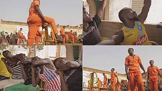 Burkina Faso prison inmates take up dancing