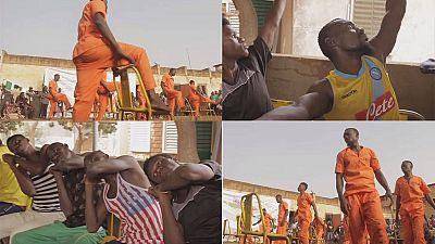 Burkina Faso prison inmates take up dancing