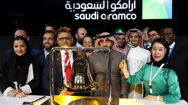 Image: The official ceremony marking the debut of Saudi Aramco's initial pu