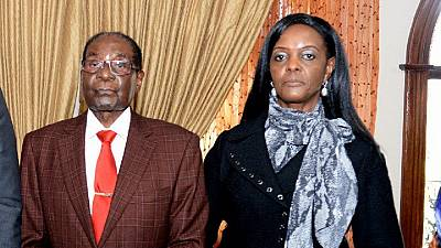 [Photo] Grace Mugabe pops up, first time since Mugabe overthrow