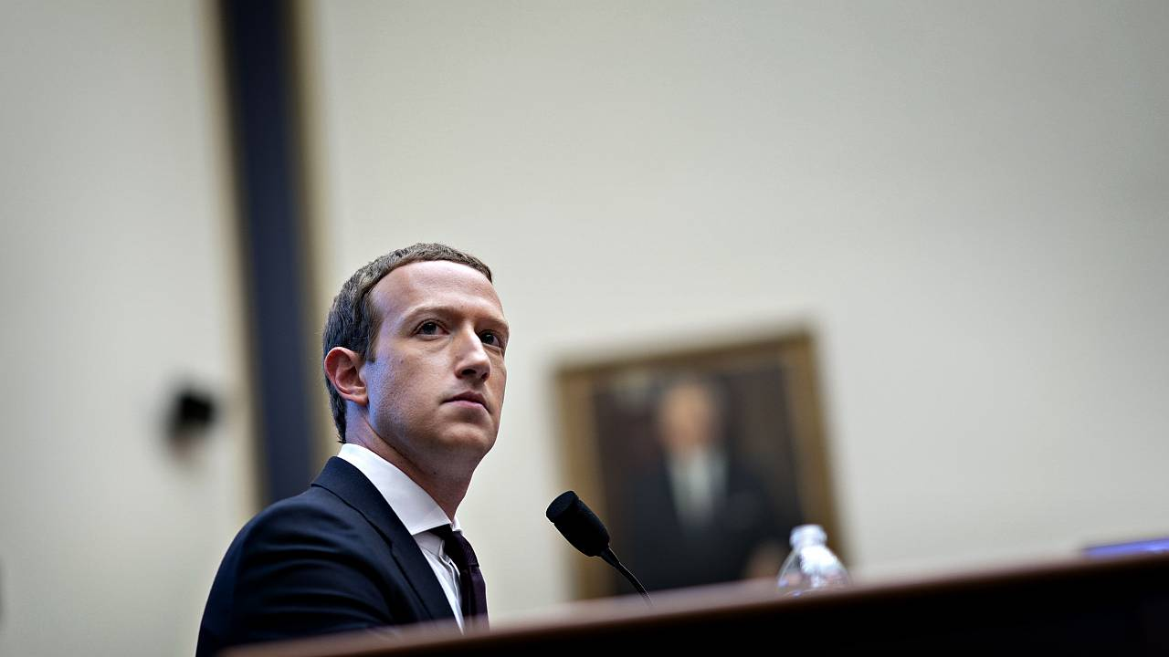 Image: Mark Zuckerberg testifies during a House Financial Services Committe