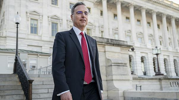 Image: White House Counsel Pat Cipollone exits the U.S. Capitol after meeti