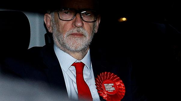 Image: Britain's opposition Labour Party leader Jeremy Corbyn leaves the La