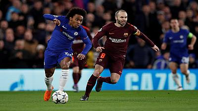 Chelsea, Barca happy with own performances