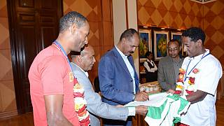 Eritrea cyclists get presidential audience, nation celebrates Africa triumph