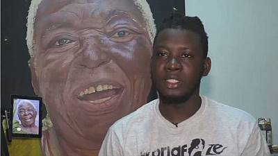 Ghanaian artist Kwesi Botchway draws inspiration from old age