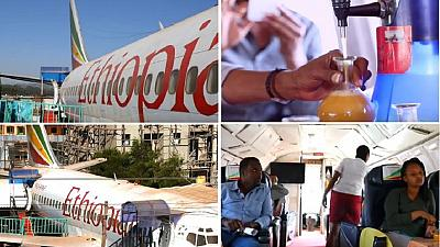 Disused Ethiopian plane turned into pure honey cafe in Oromia