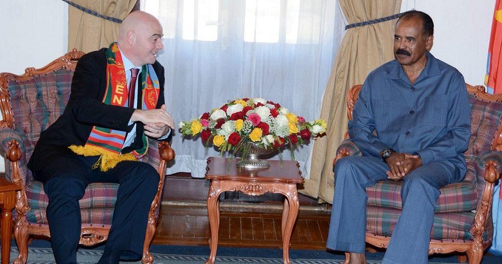 FIFA president meets Eritrean president Isaias Afwerki during duty ...
