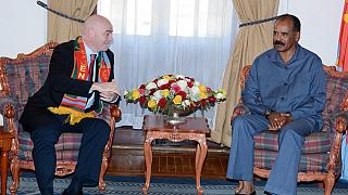 FIFA president meets Eritrean president Isaias Afwerki during duty tour