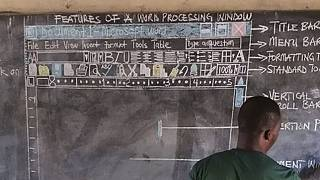 Microsoft supports chalkboard computer teacher in Ghana after Twitter appeal