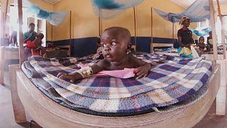 İç savaşla boğuşan Orta Afrika Cumhuriyeti'nde bir bebek doğum kliniği