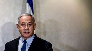 Image: Israeli Prime Minister Benjamin Netanyahu in Lisbon on Dec. 4, 2019.