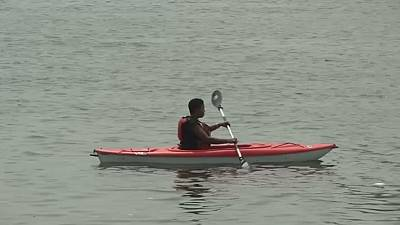 Kayaking gives Lagos residents a different view of the city