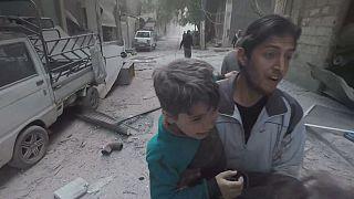 Das schreckliche Leiden der Kinder in Ost-Ghouta