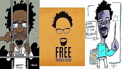Equatorial Guinea drops charges against anti-govt cartoonist