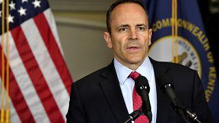 Image: Kentucky Gov. Matt Bevin announces his call to recanvass voting resu