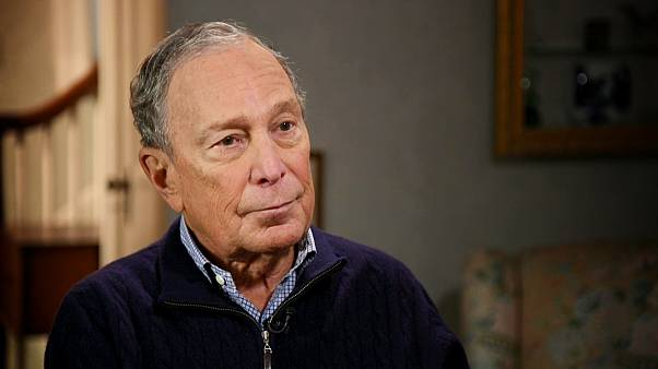 Image: Michael Bloomberg during an interview with NBC's Stephanie Ruhle on