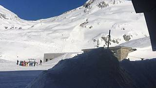 Image: View of the area where an avalanche hit in Andermatt, a Swiss ski re
