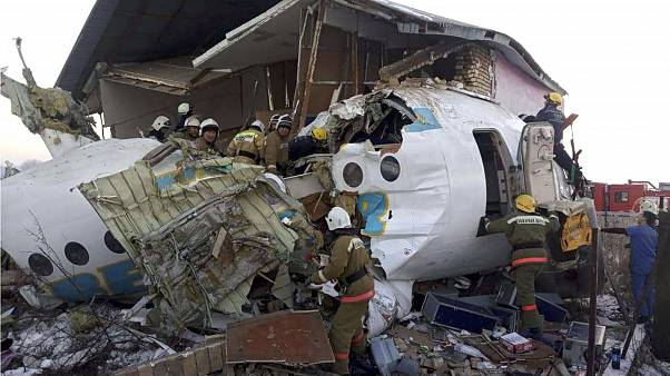 Image result for At least 14 people killed and 35 injured after plane crashes in Kazakhstan