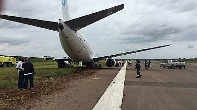 Un avion cargo sort de la piste à Lubumbashi