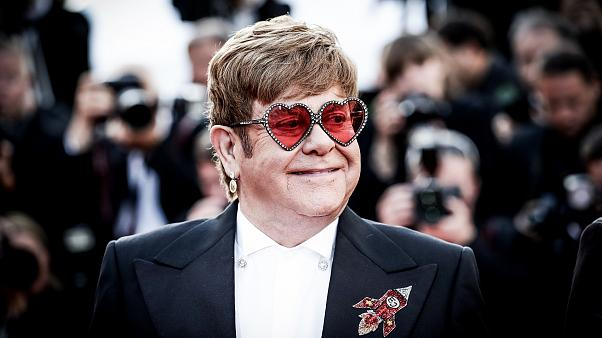 """Image: Elton John attends a screening of """"Rocketman"""" at the Cannes Film Fes"""