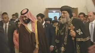 Saudi Crown Prince meets Coptic Pope in Egypt