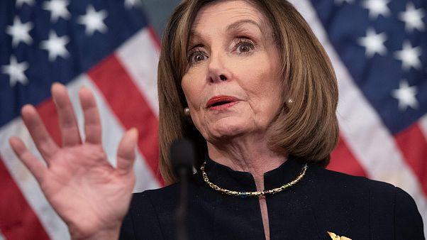Image: nancy Pelosi, post impeachment vote