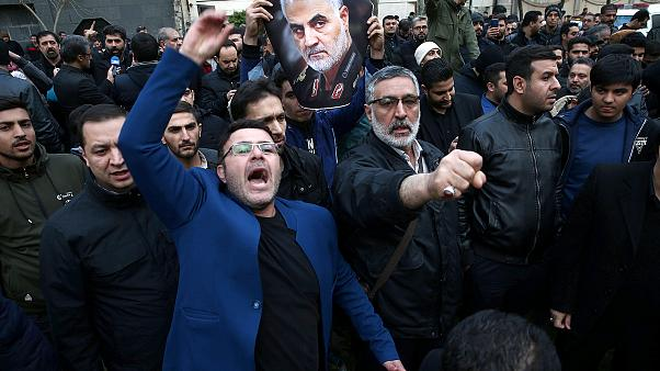 Image: Protest against the assassination of Iranian Major-General Soleimani