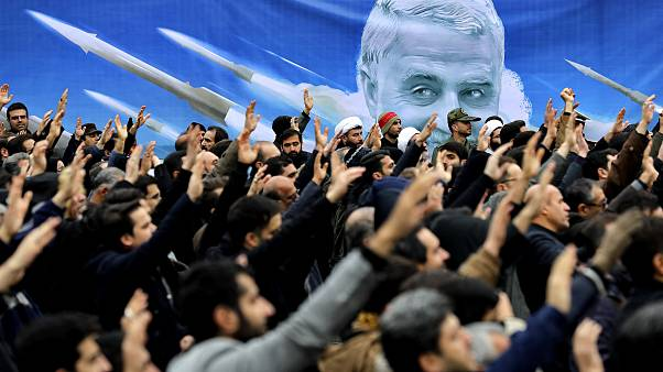 Image: Protesters demonstrate the killing of Iranian Gen. Qassem Soleimani