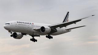 Image: A Boeing 777 jetliner, belonging to Air France Sept. 10, 2019.