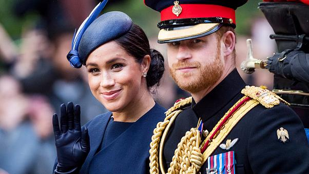 Image: Prince Harry and Meghan, Duke and Duchess of Sussex, in London on Ju