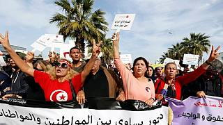 Tunisian women march for equal inheritance rights