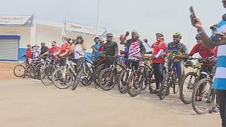 Ivorians cycle to commemorate anniversary of the Grand Bassam shooting of 2016