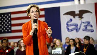 Image: Sen. Elizabeth Warren, D-Mass., speaks at a campaign event in Iowa o