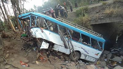 Dozens of students die in Ethiopia bus accident