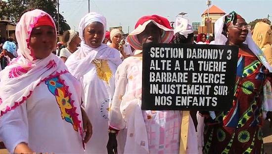 Women denounce police violence in Guinea [no comment]