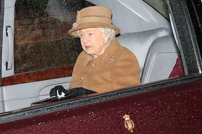 Britain\'s Queen Elizabeth II leaves church on Sunday at her Sandringham estate in eastern England.