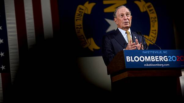 Image: Michael Bloomberg answers questions at a campaign event in Fayettevi