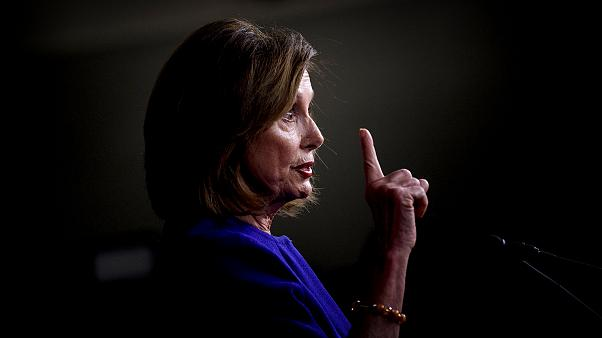 Image: Speaker of the House Nancy Pelosi attends a press briefing on Jan. 9