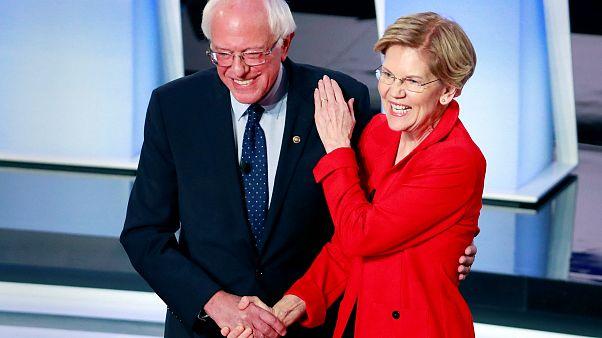 Image: Bernie Sanders, Elizabeth Warren