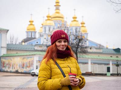 Flower delivery company manager Vitalina Shkrobynets, 28, in Kiev, Ukraine.
