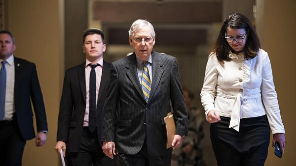 Image: McConnell prepares to receive articles of impeachment