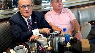 Image: Rudy Giuliani has coffee with Ukrainian-American businessman Lev Par